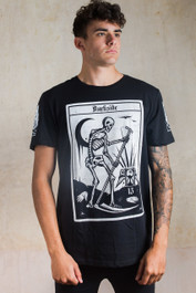 Death Tarot Card Mens Longline T Shirt