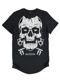 Skull Mens Longline T Shirt