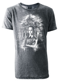 Wednesday Mens Grey Burnout T-Shirt
