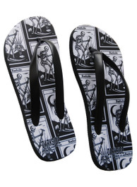 Death Tarot Card Flip Flops