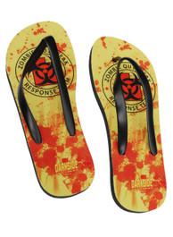 Zombie Response Yellow Flip Flops