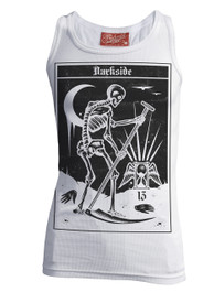 Death Tarot Card White Beater Vest