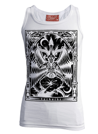 Baphomet White Beater Vest