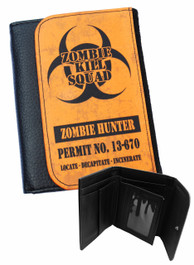 Zombie Hunter Orange Mens Wallet