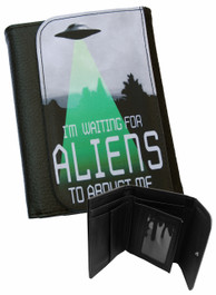 Im Waiting For Aliens To Abduct Me Mens Wallet