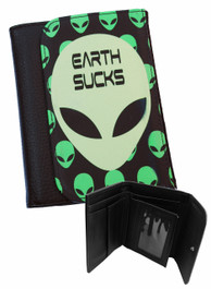 Alien Earth Sucks Mens Wallet