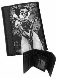 Snow White Skeleton Mens Wallet