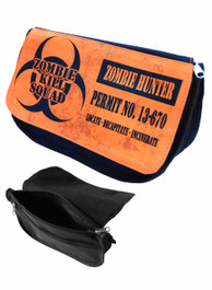 Zombie Hunter Response Team Orange Zip Up Make Up Bag/Pencil Case