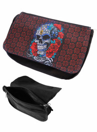 Mexican Sugar Skull Zip Up Make Up Bag/Pencil Case