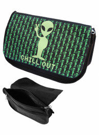Alien Chill Out Zip Up Make Up Bag/Pencil Case