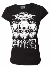 Triple Alien Womens T Shirt