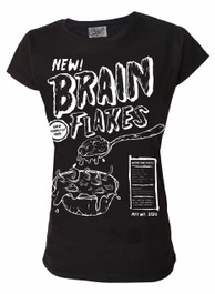 Brain Flakes Womens T Shirt