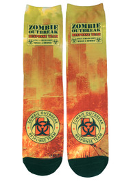Zombie Response City Yellow Socks
