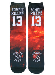 Zombie Killer 13 Survival Crew Socks