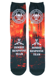 Zombie Outbreak Red City Socks