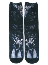 Snow White Skeleton Socks