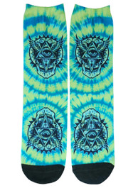Tie Dye All Seeing Eye Socks