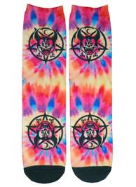 Tie Dye Mickey 666 Socks