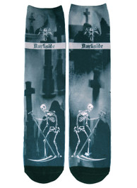 Death Tarot Card Graveyard Socks