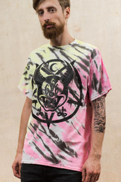 Mickey 666 Pastel Flash Tie Dye T Shirt