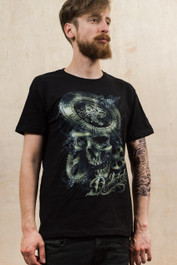Clockwork Skull Mens T-Shirt