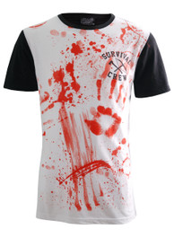 Zombie Killer 13 Black Back Baseball T-Shirt