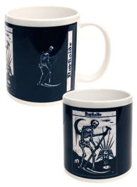 Death Tarot Card Black and White Mug