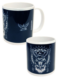 All Seeing Eye Black and White Mug