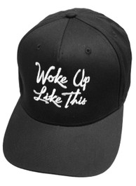 I Woke Up Like This Snapback Cap Black