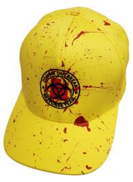 Zombie Response Yellow Blood Splatter Snapback Cap