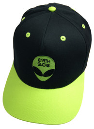 Alien Earth Sucks Green and Black Snapback Cap