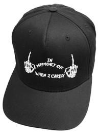 In Memory Of When I Cared Black Snapback Cap