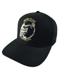 Top Hat Wolf Black Snapback Cap