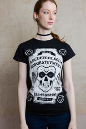 Ghoul Ouija Board Womens T Shirt