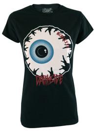 Eyeball Womens Embroidered T Shirt