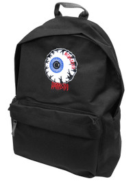 Eyeball Black and Grey Embroidered Backpack