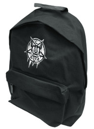 Mickey 666 Black and Grey Embroidered Backpack
