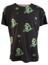 Pixel Slimer Ghostbusters Mens T Shirt