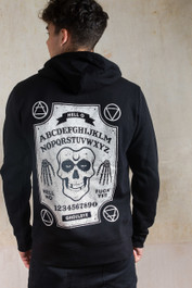 Ghoul Ouija Board Embroidered Fleece Hood