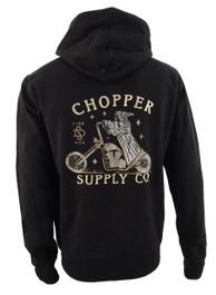 Chopper Supply Company Embroidered Fleece Hood