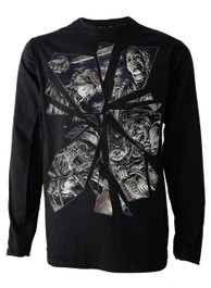 Horror Mirror Mens Long Sleeve T Shirt