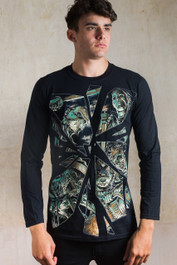 Horror Mirror Mens Long Sleeve T Shirt