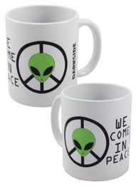 Alien We Come In Peace Mug