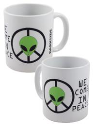 Alien We Come In Peace Mug