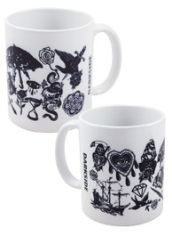Black Vintage Tattoo Mug