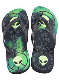 Alien Come In Peace Flip Flops