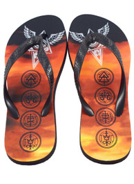 All Seeing Eye Sky Flip Flops