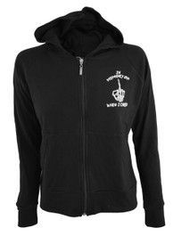 In Memory of When I Cared Womens Skinny Zip Hood
