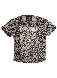 Natural Leopard Little Rocker Kids T Shirt