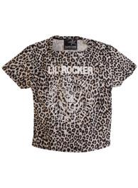 Natural Leopard Little Rocker Kids T Shirt